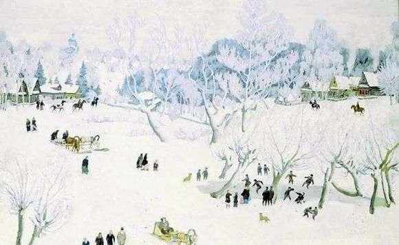 Описание картины Константина Юона «Волшебница зима»