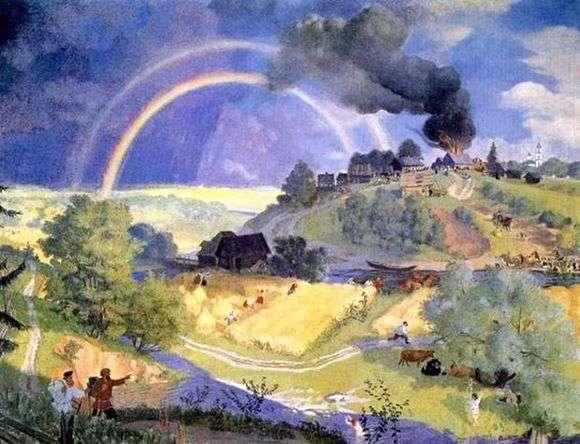 Описание картины Бориса Кустодиева «После грозы»