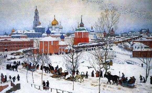 Описание картины Константина Юона «Зима. Ростов Великий»