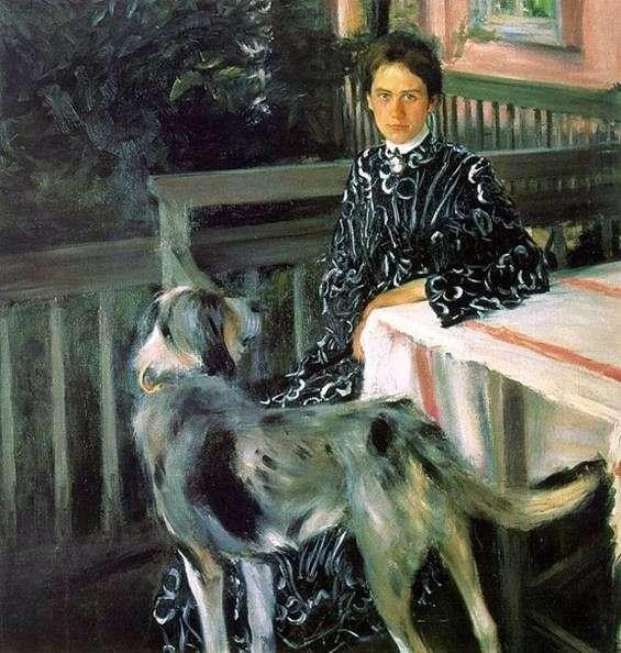 Описание картины Бориса Кустодиева «Портрет Кустодиевой»