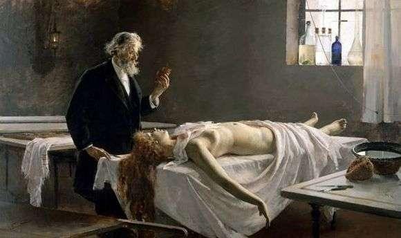 Описание картины Энрике Ломбардо «У нее было сердце» (Анатомия сердца или Вскрытие)