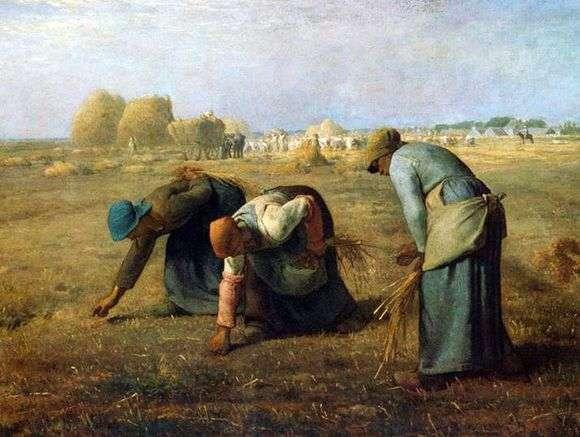 Описание картины Жана Франсуа Милле «Собирательницы колосьев»
