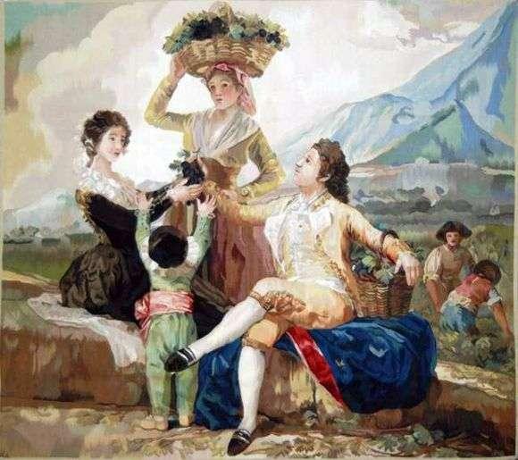 Описание картины Франциско де Гойя «Сбор винограда»