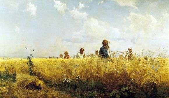 Описание картины Григория Мясоедова «Косцы»