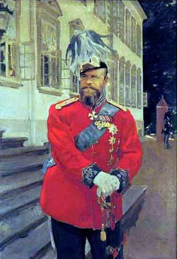 Описание картины Валентина Серова «Портрет Александра III»