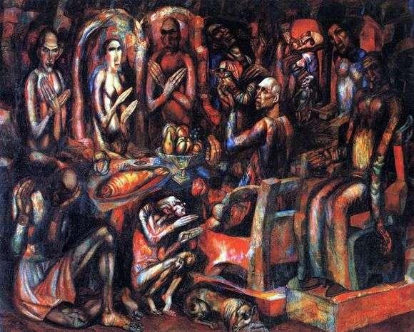 Описание картины Павла Филонова «Пир королей»