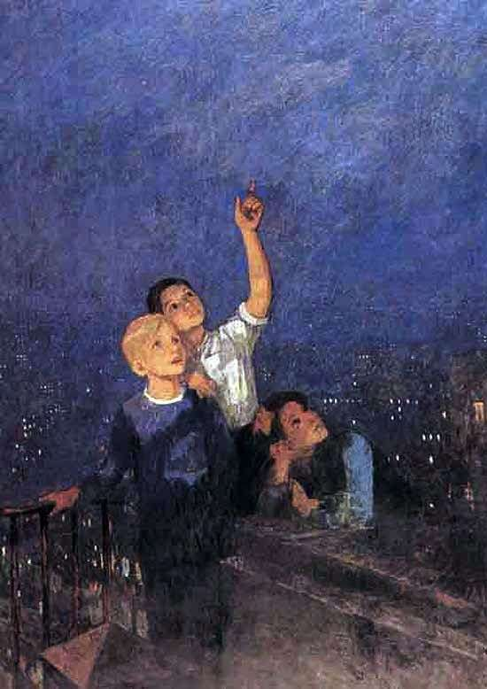 Описание картины Федора Решетникова «Мальчишки»