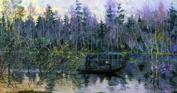 Описание картины Николая Ромадина «Керженец»