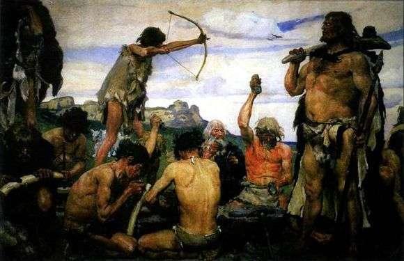 Описание картины Виктора Васнецова «Каменный век»