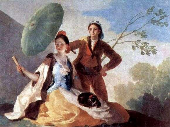 Описание картины Франциско де Гойя «Зонтик»