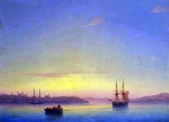 Описание картины Ивана Айвазовского «Константинополь на рассвете»