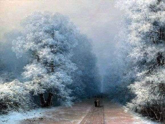 Описание картины Ивана Айвазовского «Зимний пейзаж»
