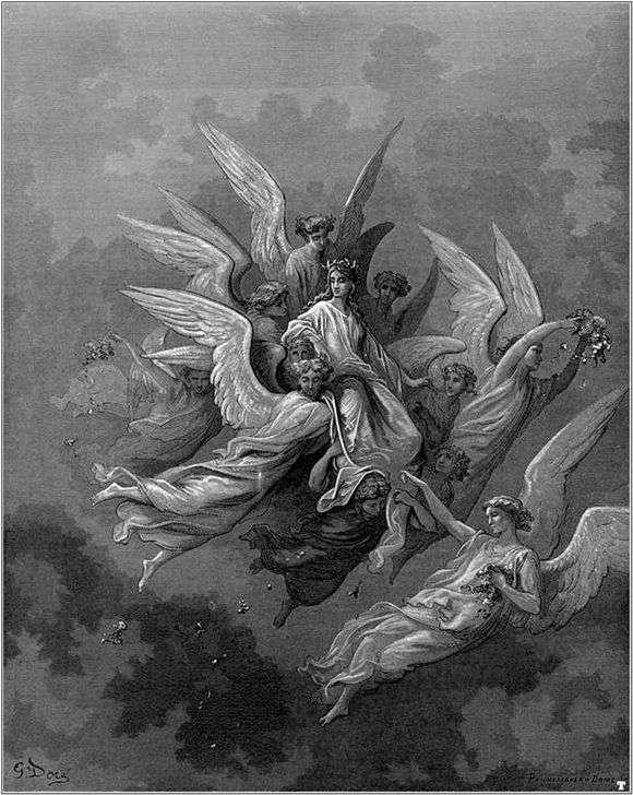 Описание картины Густава Доре «Ангел»