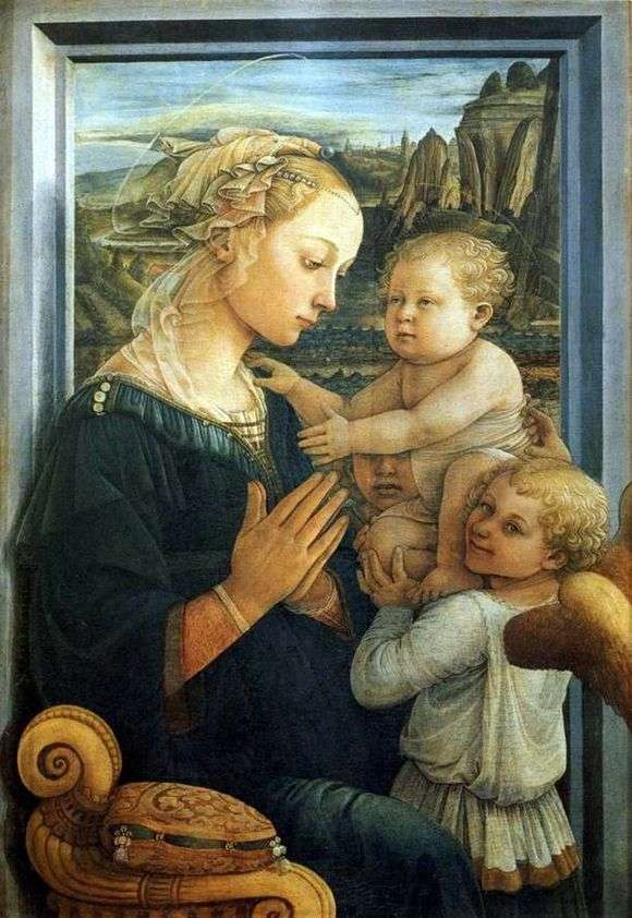Описание картины Липпи Филиппо «Мадонна с младенцем и ангелами»