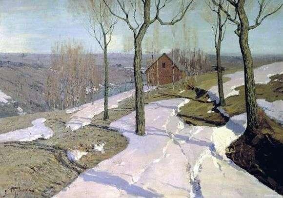 Описание картины Вильгельма Пурвита «Последний снег»