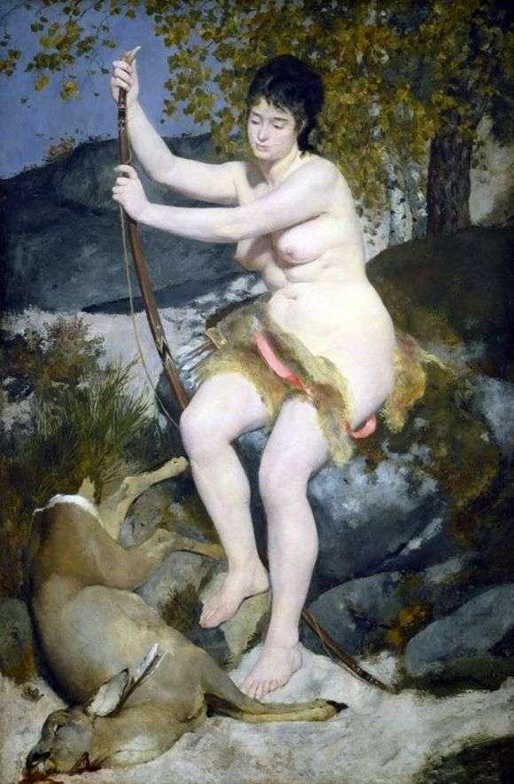 Описание картины Пьера Огюста Ренуара «Диана охотница»