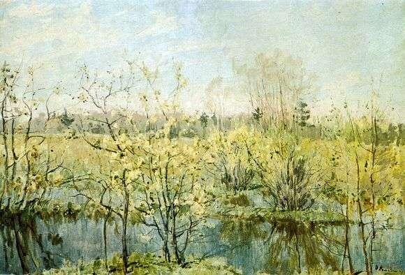 Описание картины Николая Ромадина «Первое цветение»