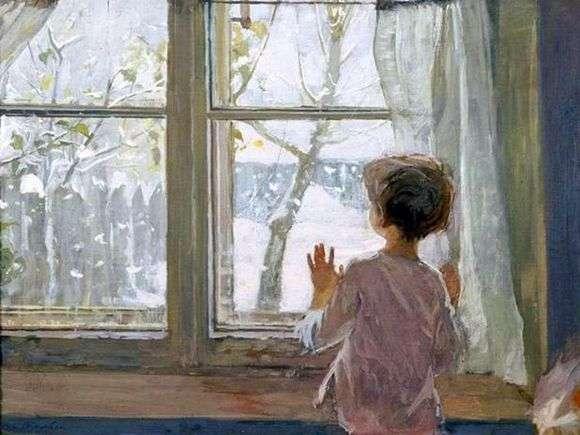 Описание картины Сергея Тутунова «Зима пришла. Детство»