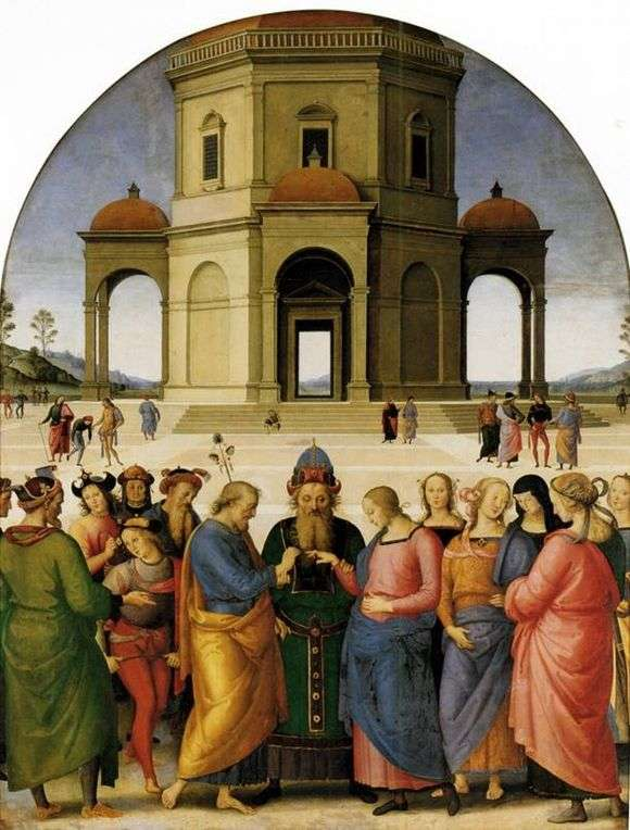Описание картины Пьетро Перуджино «Обручение Марии»