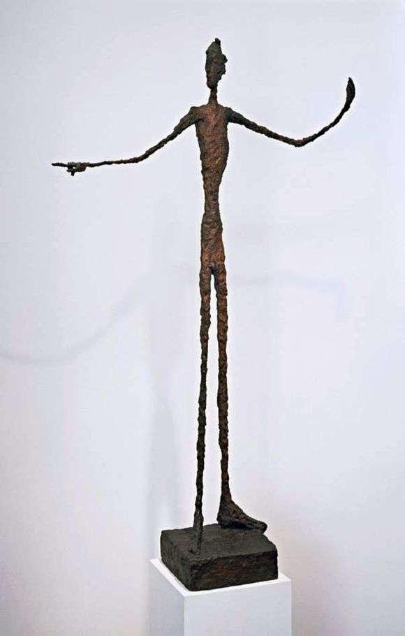 Описание скульптуры Альберто Джакометти «Указывающий человек»