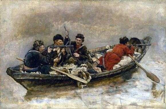 Описание картины Василия Сурикова «Казаки в лодке»