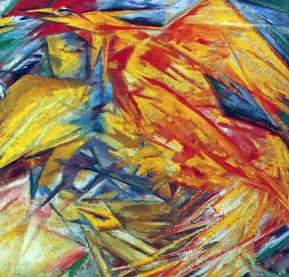 Описание картины Михаила Ларионова «Петух и курица»
