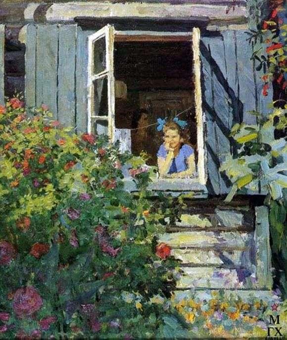 Описание картины Федора Решетникова «На даче»