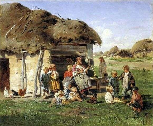 Описание картины Владимира Маковского «Крестьянские дети»