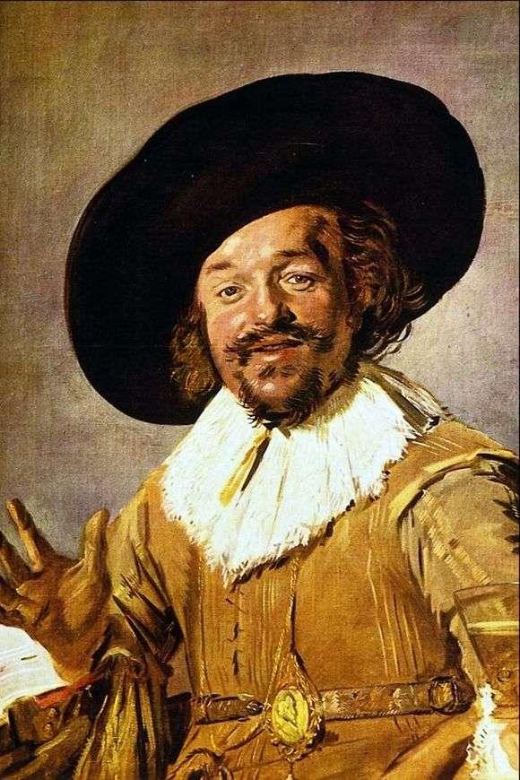 Описание картины Франса Хальса «Веселый собутыльник» (Пьяница)