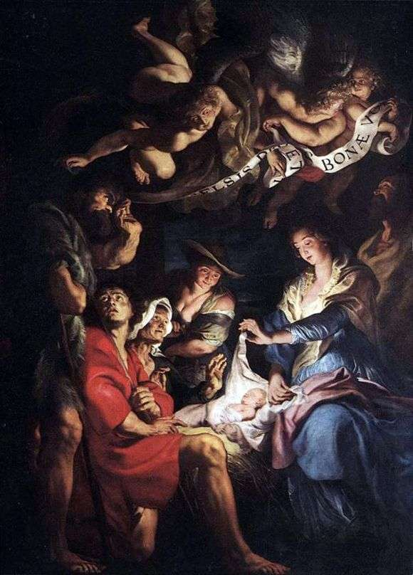 Описание картины Питера Рубенса «Поклонение пастухов»