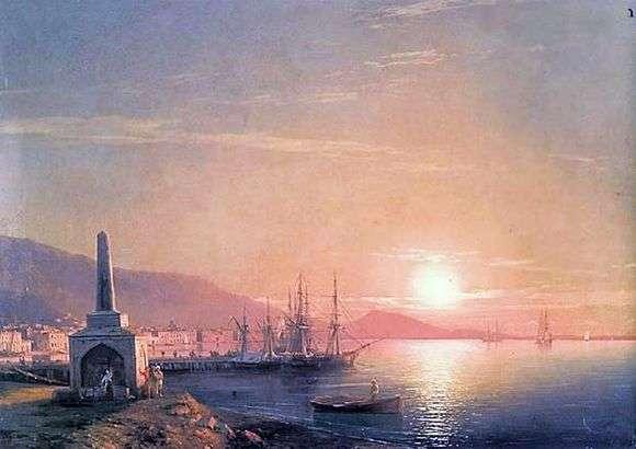 Описание картины Ивана Айвазовского «Восход солнца в Феодосии»