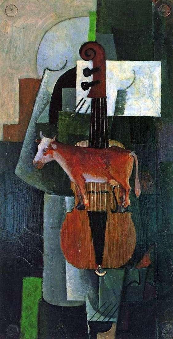 Описание картины Казимира Малевича «Корова и скрипка»