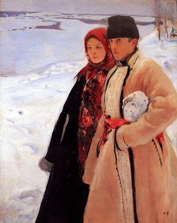 Описание картины Александра Мурашко «Зима»