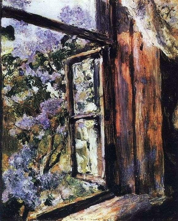 Описание картины Валентина Серова «Открытое окно сирень»