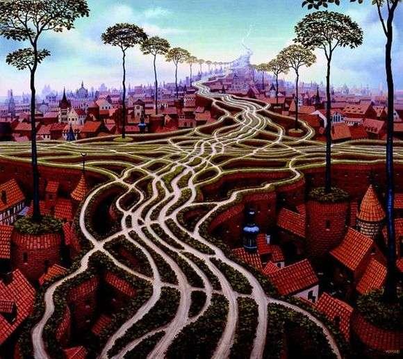 Описание картины Яцека Йерка «Эрозия»