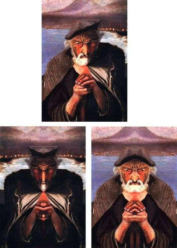 Описание картины Тивадара Костки Чонтвари «Старый рыбак»