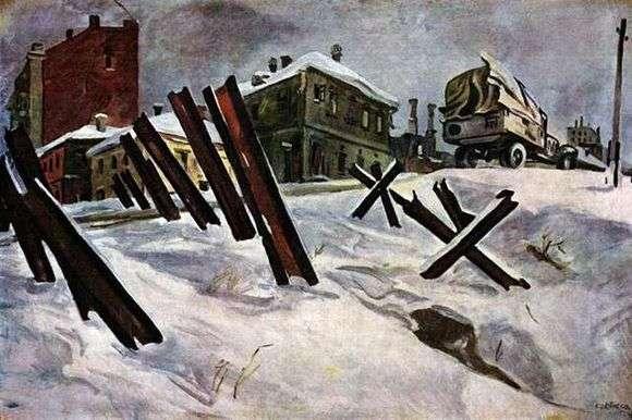Описание картины Александра Дейнека «Окраина Москвы»