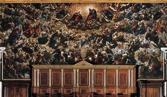 Описание картины Якопо Тинторетто «Рай»