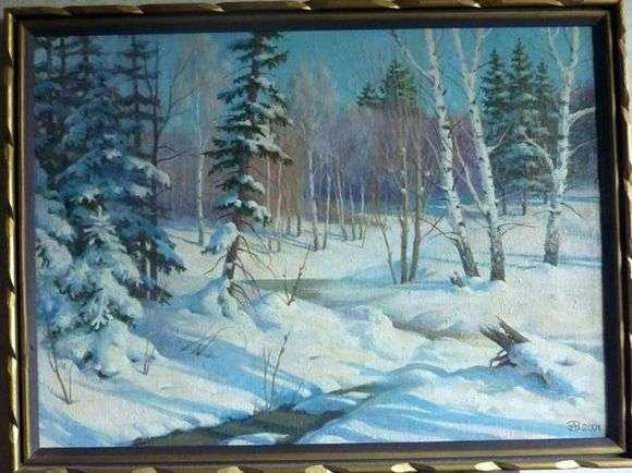 Описание картины Александра Захаров «Зима»