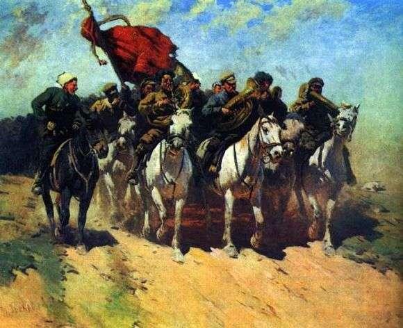 Описание картины Митрофана Грекова «Трубачи первой конной армии»