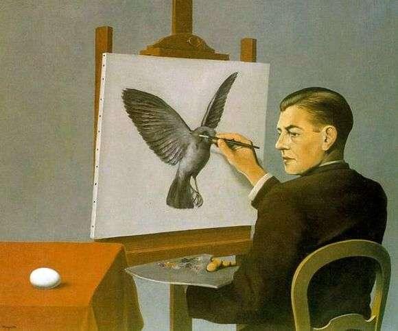 Описание картины Рене Магритта «Проницательность»