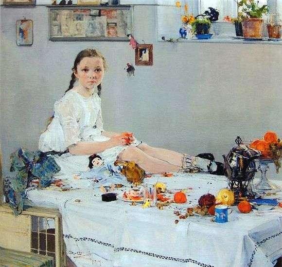 Описание картины Николая Фешина «Портрет Вари Адоратской»