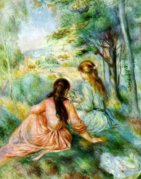 Описание картины Пьера Огюста Ренуара «На лугу»