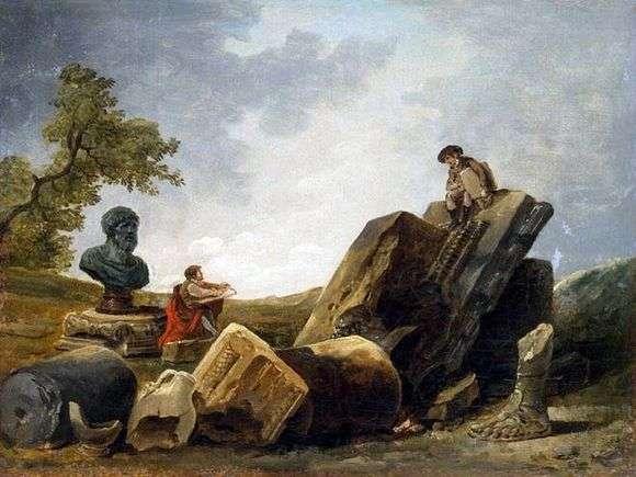 Описание картины Гюбера Робера «Художники»