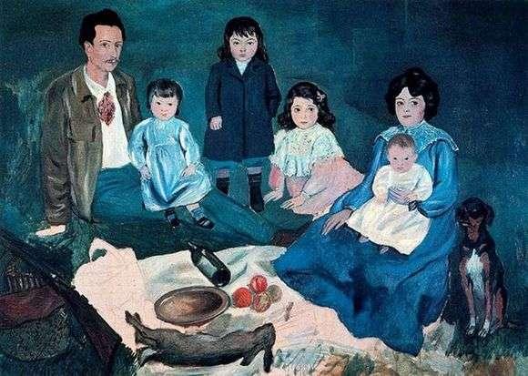 Описание картины Пабло Пикассо «Семья вместе»