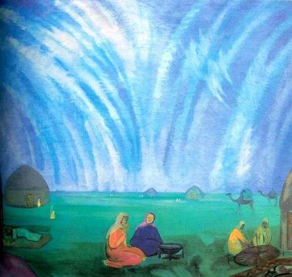 Описание картины Павла Кузнецова «Мираж в степи»