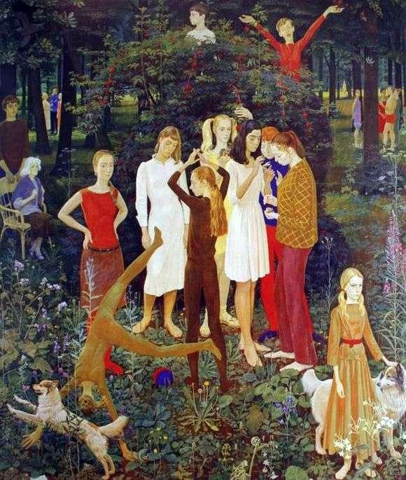 Описание картины Дмитрия Жилинского «Воскресный день»
