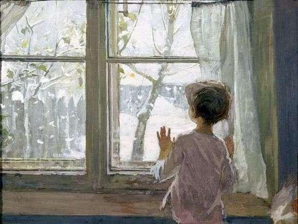 Описание картины Сергея Тутунова «Зима пришла»