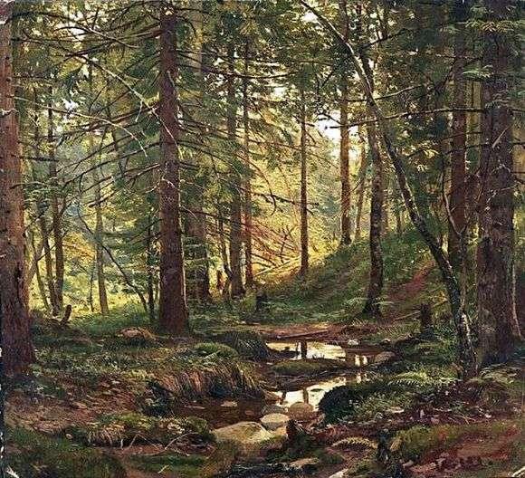 Описание картины Ивана Шишкина «Ручей в лесу»