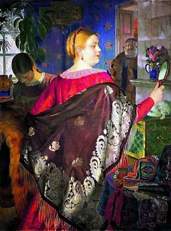 Описание картины Бориса Кустодиева «Купчиха с зеркалом»